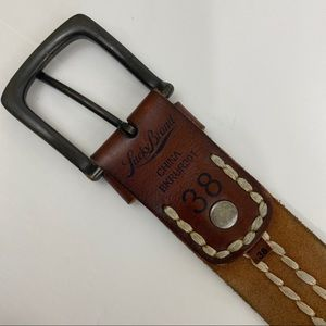 Lucky Brand Brown Leather Belt. Size 38